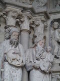 Kathedraal Notre-Dame in Lausanne in Zwitserland Stock Foto