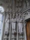 Kathedraal Notre-Dame in Lausanne in Zwitserland Royalty-vrije Stock Fotografie