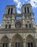 Kathedraal notre dame Parijs, Frankrijk stock foto's