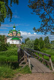 Kathedraal in Olonets-stad Stock Fotografie