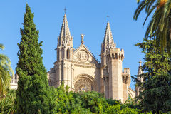 Kathedraal in Palma de Mallorca Stock Afbeeldingen