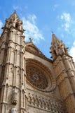 Kathedraal in Palma, vooraanzicht Royalty-vrije Stock Foto