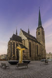 Kathedraal in Pilsen Royalty-vrije Stock Fotografie