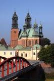 Kathedraal in Poznan, Polen. stock foto