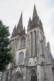 Kathedraal in Quimper, Frankrijk Stock Foto