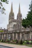 Kathedraal in Quimper, Frankrijk Royalty-vrije Stock Foto