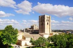Kathedraal, Romaanse stijl Stock Foto
