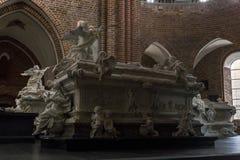 Kathedraal in Roskilde, Denemarken royalty-vrije stock foto