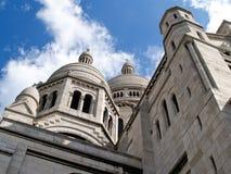 Kathedraal, Sacre Coeur, Parijs. Stock Afbeeldingen