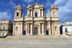 Kathedraal San Nicolo, Noto, Sicilië Stock Afbeeldingen
