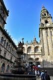 Kathedraal - Santiago DE Compostela, Spanje royalty-vrije stock afbeeldingen