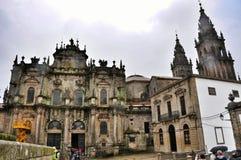 Kathedraal in Santiago de Compostela, Spanje royalty-vrije stock foto