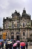 Kathedraal in Santiago de Compostela, Spanje stock fotografie