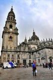 Kathedraal in Santiago de Compostela, Spanje royalty-vrije stock afbeelding