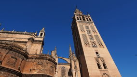 Kathedraal in Sevilla, Spanje stock footage