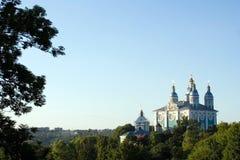 Kathedraal in Smolensk, Rusland Royalty-vrije Stock Afbeelding