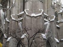 Kathedraal in Sneeuw royalty-vrije stock foto's