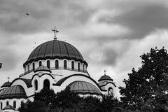 Kathedraal in Sofia stock afbeeldingen