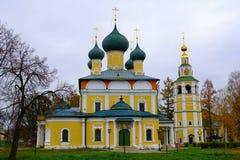 Kathedraal spaso-Preobrazhensky in Uglich het Kremlin, Rusland royalty-vrije stock foto's
