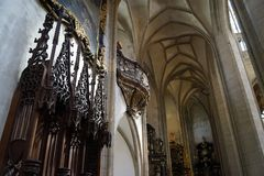Kathedraal st Barbara - altaren stock fotografie