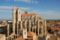 Kathedraal St enkel en Pasteur van Narbonne Stock Foto's