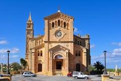 Kathedraal Ta Pinu, eiland Gozo, Malta Royalty-vrije Stock Fotografie