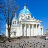 Kathedraal troitse-Izmailovsky in St. Petersburg, Rusland Royalty-vrije Stock Foto's