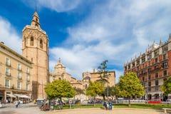 Kathedraal in Valencia, Spanje Stock Foto