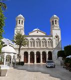 Kathedraal van agia-Napa, de belangrijkste Orthodoxe Kerk van Limassol stad, Cyprus stock fotografie