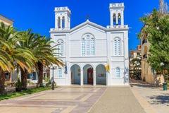 Kathedraal van Agios Nikolaos in Nafplion, Griekenland stock foto's