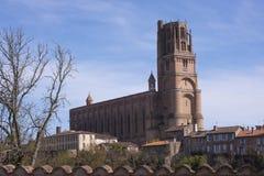 Kathedraal van Albi Stock Foto's