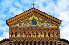 Kathedraal van Amalfi, Amalfi Kust, Italië stock foto