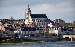 Kathedraal van Blois in Frankrijk Stock Foto's