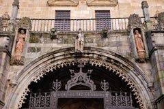 Kathedraal van Braga, details stock afbeelding