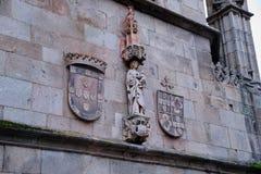 Kathedraal van Braga, details stock foto's