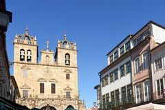 Kathedraal van Braga, Portugal royalty-vrije stock foto