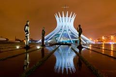 Brasilia Kathedraal Stock Afbeeldingen