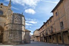 Kathedraal van Burgo DE Osma, Soria, Spanje stock foto's