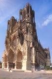 Kathedraal van Champagne-gebied in Frankrijk Stock Afbeelding