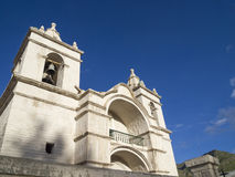 Kathedraal van Chivay, Peru royalty-vrije stock fotografie