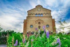 Kathedraal van Christus, Christian Evangelical Church in Veliky Novgorod, Rusland stock foto
