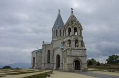 Kathedraal van Christus de Heilige Verlosser, Shushi, Nagorny Karabach aangaande Stock Foto