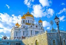 Kathedraal van Christus de Redder Het rode vierkant van Moskou het Kremlin Stock Foto