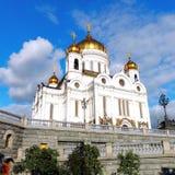 Kathedraal van Christus de Redder in Moskou, Rusland Stock Foto's