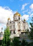 Kathedraal van Christus de Redder in Moskou, Rusland Stock Foto