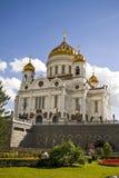 Kathedraal van Christus de redder, Moskou, Rusland. Stock Foto