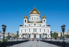 Kathedraal van Christus de Verlosser Khram Khrista Spasitelya, Moskou, Rusland Stock Fotografie