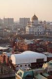 Kathedraal van Christus de Verlosser in Moskou stock afbeelding