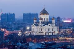 Kathedraal van Christus de Verlosser in Moskou royalty-vrije stock foto's
