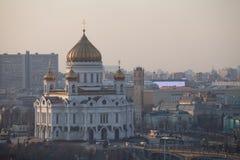 Kathedraal van Christus de Verlosser in Moskou stock fotografie